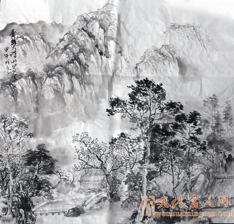 青岛大珠山写生--路成亮-文化名人网唯一官方网站|中国文化名人诗词书画研究院|名人字画|著名书法家|著名画家|著名书画家|中国文化名人网-文化名人网
